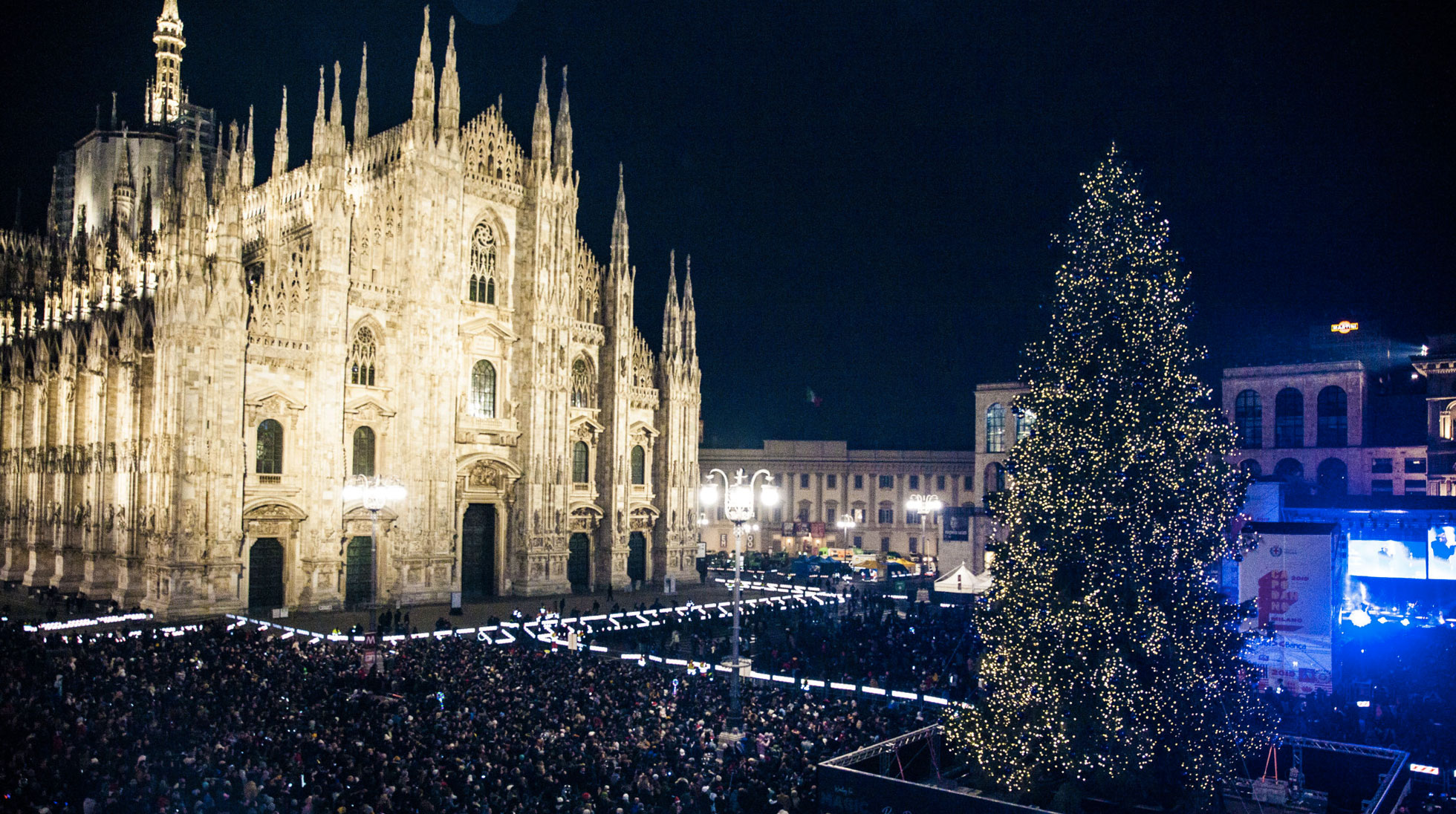Milan celebrates the New Years Eve three times a year!